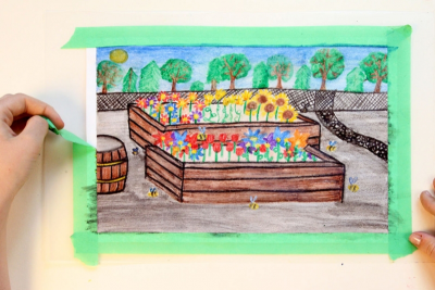 PICTURE A PROJECT – Working With Dry Erase Water Soluble Crayons - Step Six