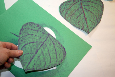 LEAFY SCULPTURE – Texture, Colour, Form - Step Three