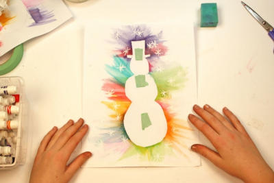 STENCIL A POEM – Printmaking, Colour, Shape - Step Ten