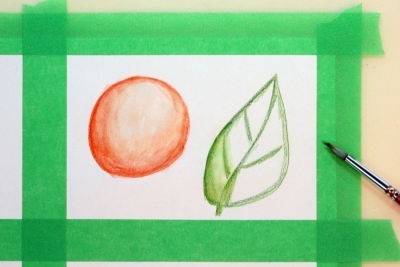 EXPLORING WATERCOLOUR PENCILS – Simple Techniques - Step Three