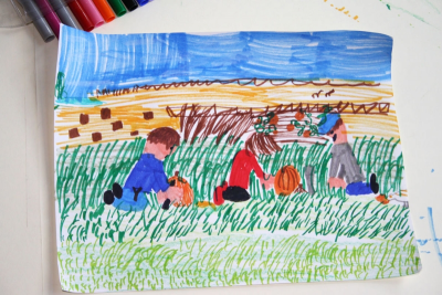 WILLIAM KURELEK – Looking at Art, Drawing from Memory - Step Three