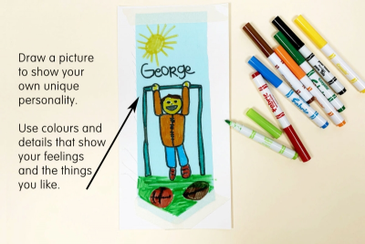 OUR CLASS BANNER –Shape, Colour, Fabric Art - Step Two