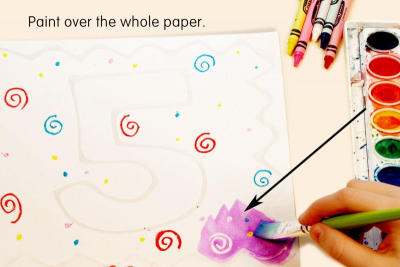 WHAT'S IN A NUMBER? –Counting, Whole Numbers, Texture - Step Three