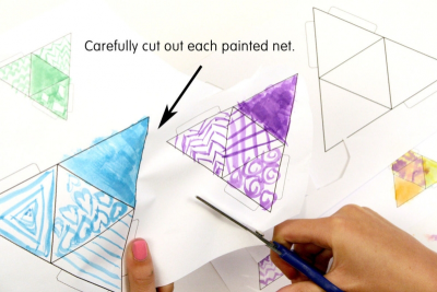 TINY TETRAHEDRONS – Geometry, Pattern, Balance - Step Two