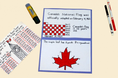 CANADA'S FLAG – Facts and Figures, Measurement - Step Eight