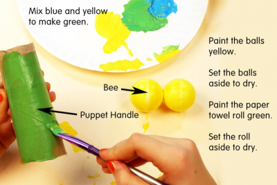 BUZZY BEE – Creating a Kazoo Puppet - Step Three