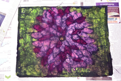 PLANTS IN NATURE – The Ancient Art of Batik on Fabric - Step Fourteen