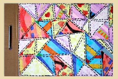 QUILT BOOK – Printmaking, Colour, Shape, Pattern - Step Ten