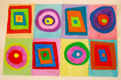 INSPIRED BY KANDINSKY – Concentric Shapes, Colour - Step Five