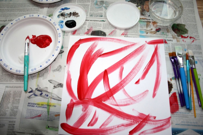 EXPLORING WASHABLE PAINT – Monochromatics - Step One