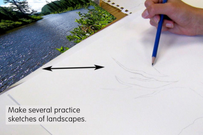 MIXED MEDIA LANDSCAPE –Group of Seven, Colour - Step One