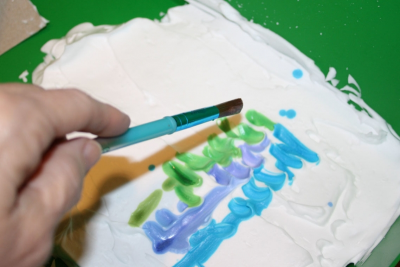 MONOTYPES with Watercolour and Shaving Cream - Step Two