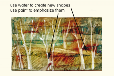 EXPLORING MIXED MEDIA – Textured Landscapes - Step Five