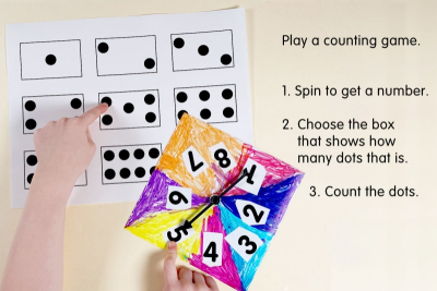 NUMBER SPINNER – Shape, Colour, Space - Step Five