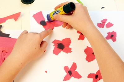 REMEMBRANCE DAY – Mixed Media, Contrast, Rhythm - Step Three