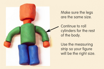 CYLINDER MAN – Modeling Clay Figure - Step Two