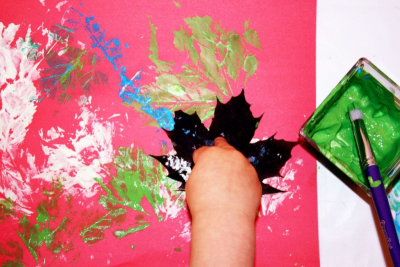 EXPLORING LEAVES – Printmaking, Line, Texture, Shape - Step Two