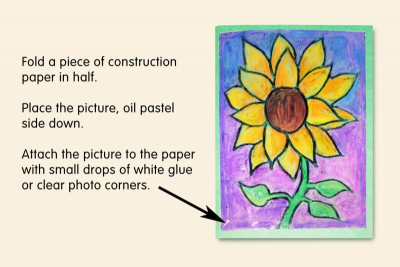 OIL PASTEL GREETING CARD – Shape, Colour, Contrast - Step Four
