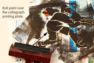 WHAT AN EXPERIENCE! –Printmaking, Analogous Colours - Step Five