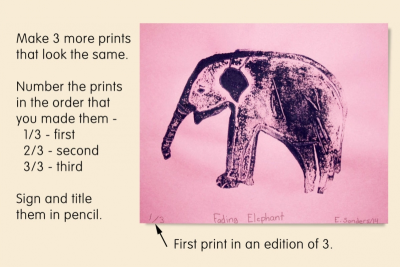 A WORLD WITHOUT – Making an Edition of Prints - Step Ten