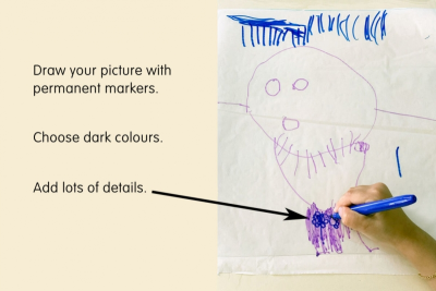 PICTURE A STORY –Colour Mixing, Line, Detail - Step One