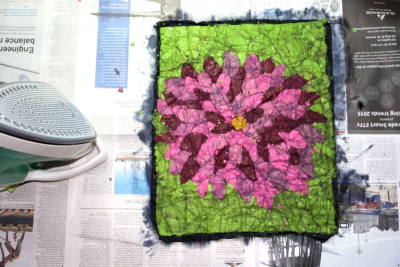 PLANTS IN NATURE – The Ancient Art of Batik on Fabric - Step Eleven