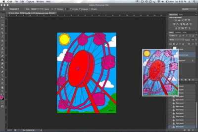 PHOTOSHOP BASICS – Adding Colour - Step Eleven