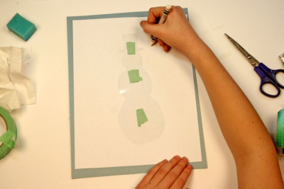 STENCIL A POEM – Printmaking, Colour, Shape - Step Five
