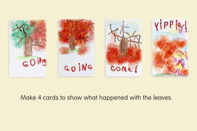 AUTUMN LEAVES –Sequencing, Colour, Texture - Step Eight