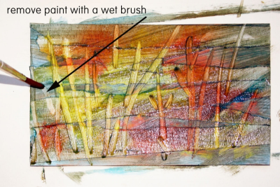 EXPLORING MIXED MEDIA – Textured Landscapes - Step Four