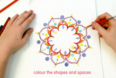 MINDFUL MANDALAS – Radial Balance, Repetition, Pattern - Step Five