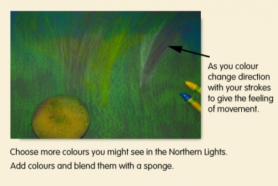 NORTHERN LIGHTS – Colour, Contrast, Space - Step Two