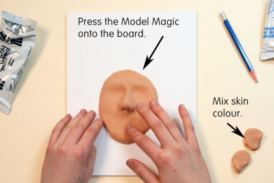 GRAD PICTURES – MODEL MAGIC – Colour Mixing, Form, Balance - Step Two
