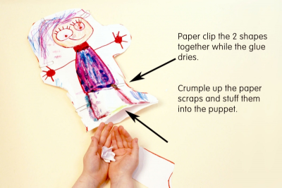 SUPER STUFFY PUPPET – Form, Colour, Pairs - Step Five