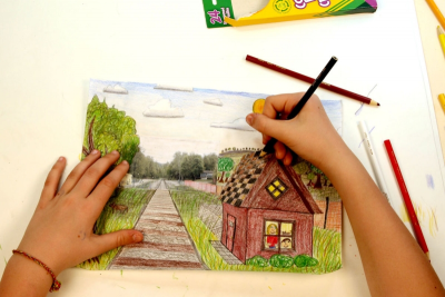 ALL ABOARD! –One-Point Perspective, Space, Colour - Step Eight
