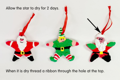 HANGING STAR ORNAMENT –Shape, Colour, Texture - Step Three