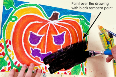 PUMPKIN FACES – Blended Colour, Expression, Contrast - Step Three
