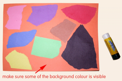EXPLORING OIL PASTEL – Coloured Paper - Step One
