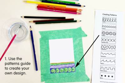 PHOTO TRANSFER GREETING CARD – Pattern, Colour, Contrast - Step Two
