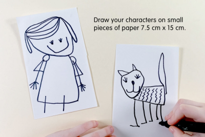 STORY CHARACTER MAGNETS – Shape, Line, Colour - Step One