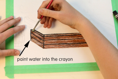 PICTURE A PROJECT – Working With Dry Erase Water Soluble Crayons - Step Five