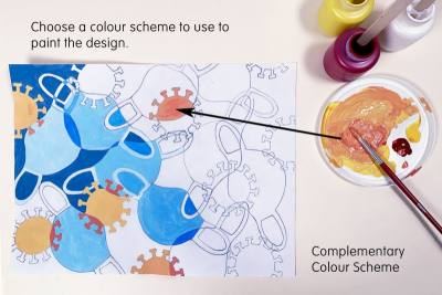 ABSTRACT DESIGN – Colour Schemes, Shape, Space - Step Two