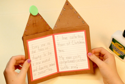 FAMILY HOLIDAY TRADITIONS – Bookmaking, Shape, Contrast - Step Twelve