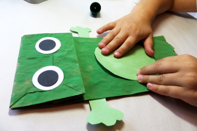 FROG PUPPET – Shape, Colour, Contrast - Step Six