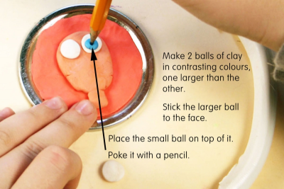 MAKING FACES – Modeling Clay Magnets - Step Four