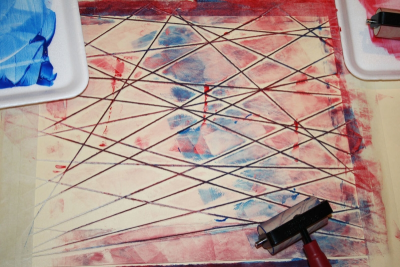 PRINTMAKING – Colour, Shape and Line - Step Nine