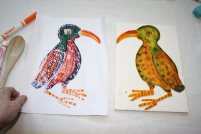 RELIEF PRINTS – Marker and Craft Foam - Step Six