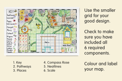 MAKE A BEE FRIENDLY MAP –Space, Colour, Contrast - Step Two