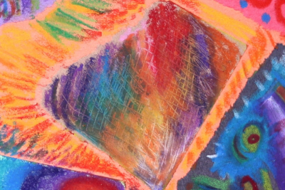 EXPLORING OIL PASTEL – Coloured Paper - Step Fourteen