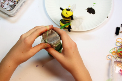 BUZZY BEE – Creating a Kazoo Puppet - Step Eighteen
